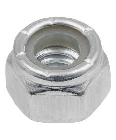 Zinc-Plated Nylon Insert Stop Nut USS Coarse 1/4-20, 4 Pieces