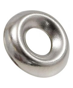 Nickel-Plated Countersunk Finish Washers #8, 10 Pieces