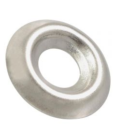Nickel-Plated Countersunk Finish Washers #10, 10 Pieces