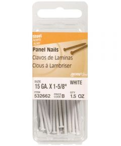White Panel Nails 1-5/8 in., 6 Pieces