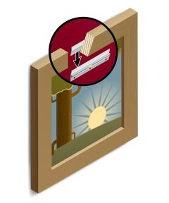 Hangman Picture and Mirror 6 in. Hanging System 75lb