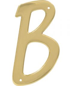 4 in. Nail-On Brass House Letter B