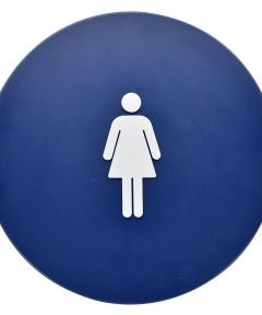 Blue Circle Women ft.s Restroom Sign 12 in.