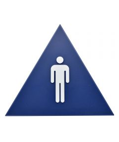 Blue Triangle Men ft.s Restroom Sign 12 in. X 10 in.
