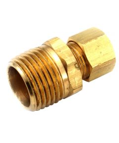 1/4 in. x 3/8 in. Brass Lead Free Connector