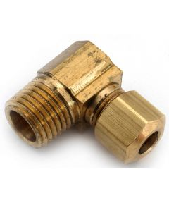 3/8 in. x 3/8 in. Brass Lead Free Compression Elbow
