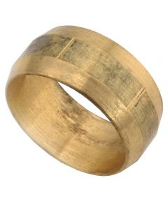 1/2 in. Brass Lead Free Compression Sleeve 3 Count