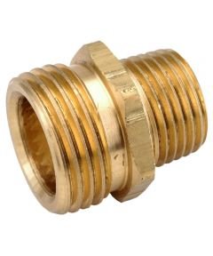3/4 in. Male x 1/2 in. Male Brass Lead Free Garden Hose Connector