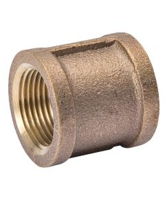 1/4 in. Red Brass Coupling Pipe