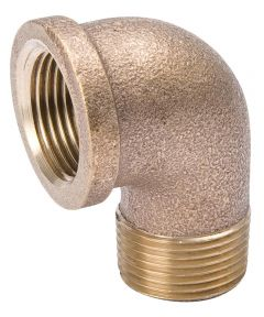 1/4 in. x 1/4 in. Red Brass MXFPT Street Elbow Pipe
