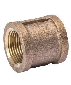 3/8 in. Red Brass Coupling Pipe