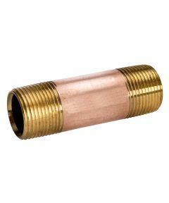 3/8 in. x Close Red Brass Nipple