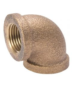 1/2 in. Red Brass Elbow Pipe
