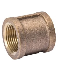 1/2 in. Red Brass Coupling Pipe