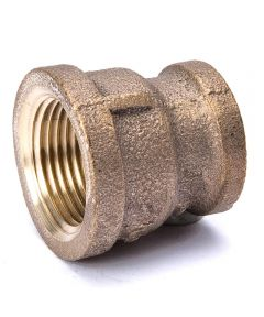 3/4 in. x 1/2 in. Red Brass Coupling Pipe