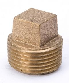 3/4 in. Red Brass Square Head Pipe Plug