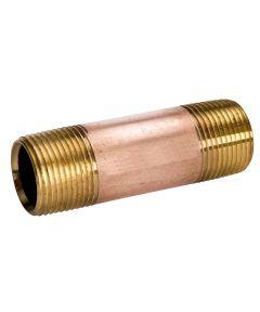 3/4 in. x Close Red Brass Nipple