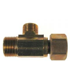 3/8 in. x 1/4 in. Brass Low Lead Tee Angle & Straight Stop Valve