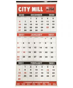 2021 City Mill 13.25 in. x 27.25 in. Wall Calendar