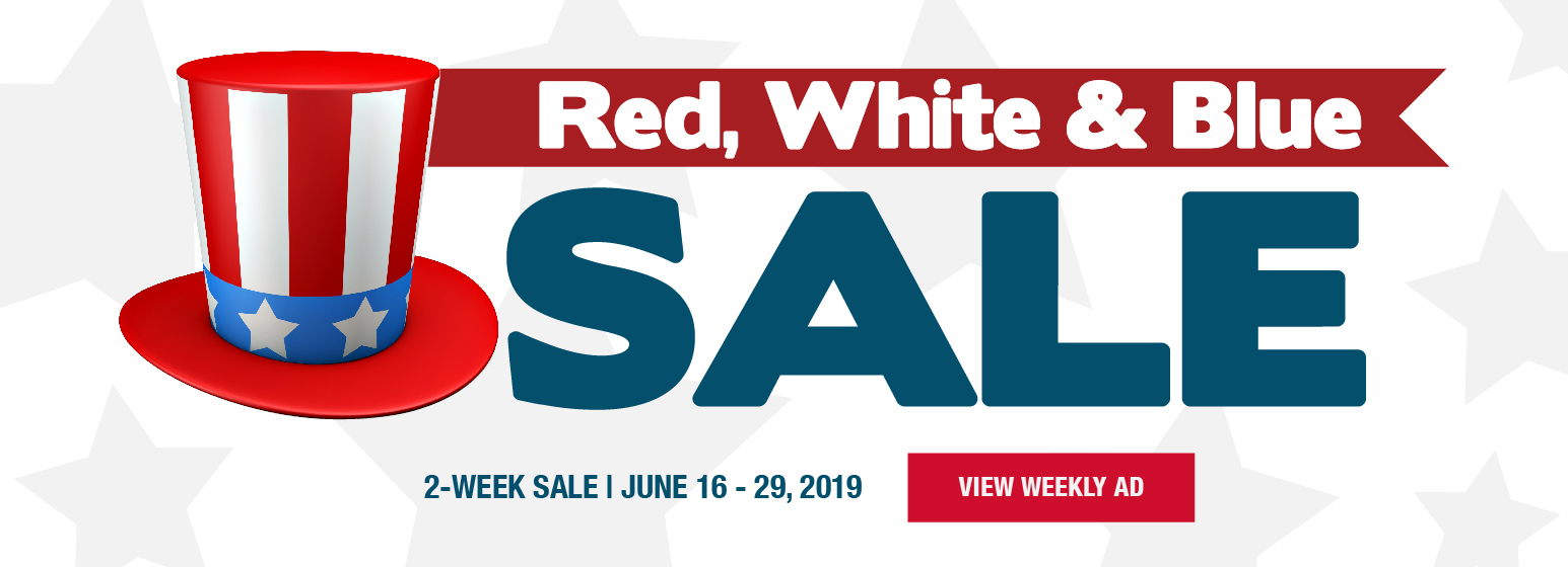 City Mill Red White Blue Sale