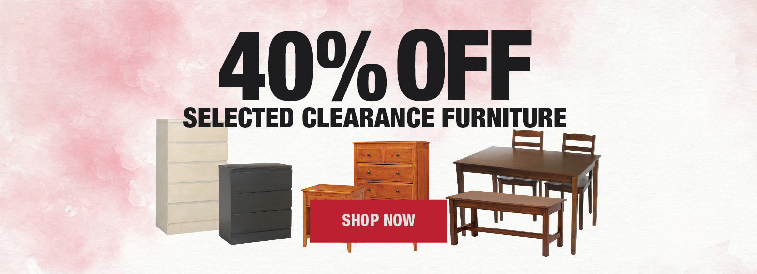 Sale 40% Off Selected Clearance Furniture