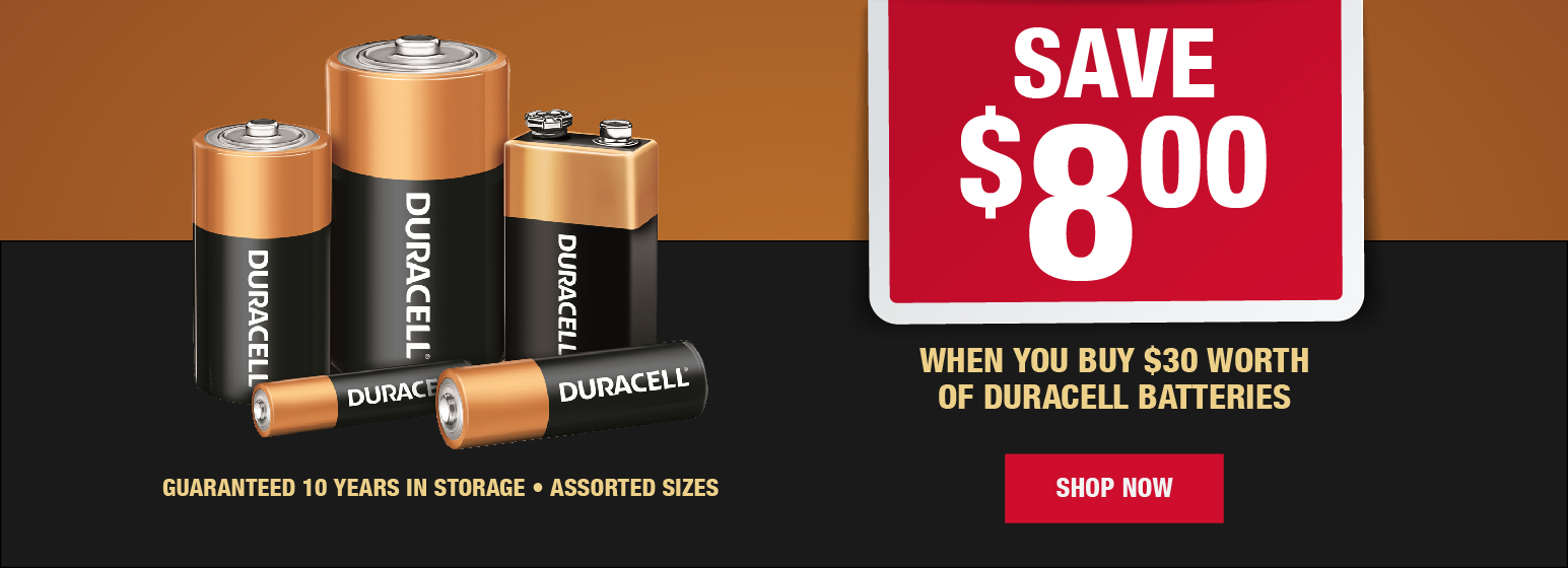 City Mill Duracell Batteries Save $8