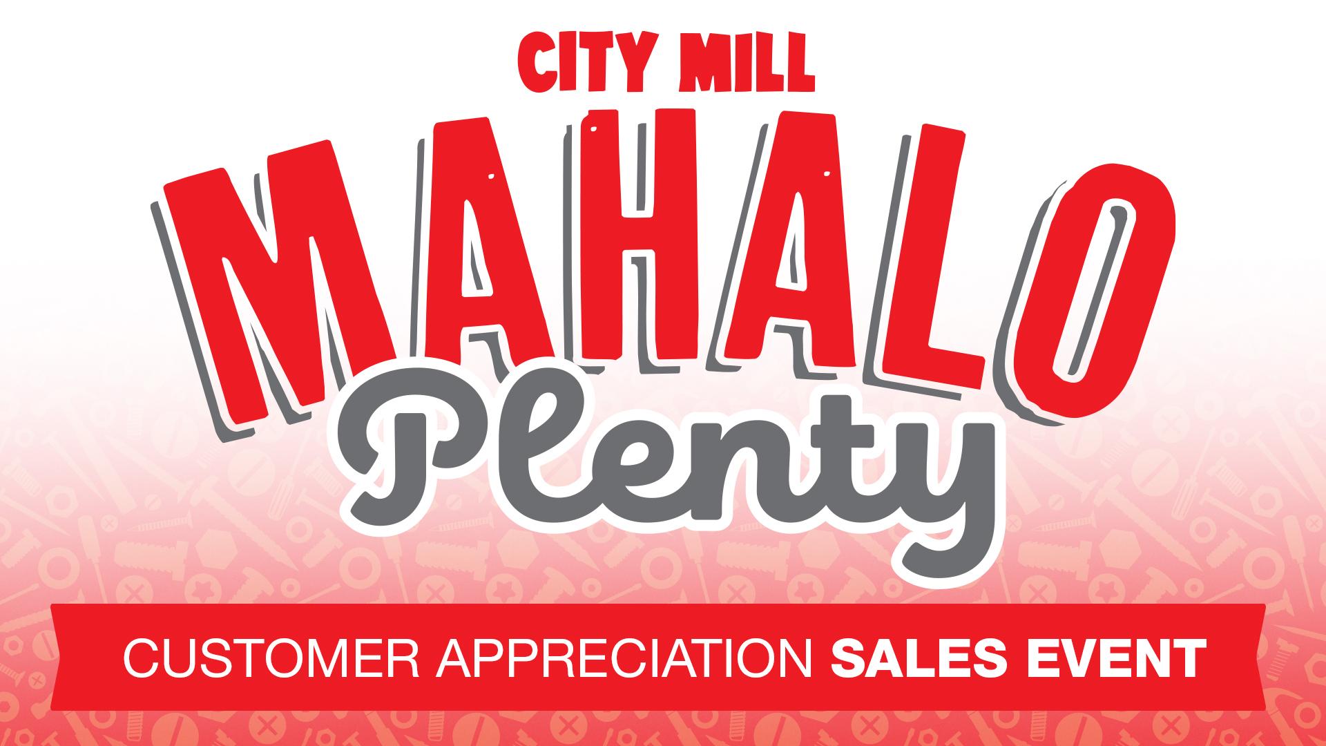 Mahalo Plenty Sale