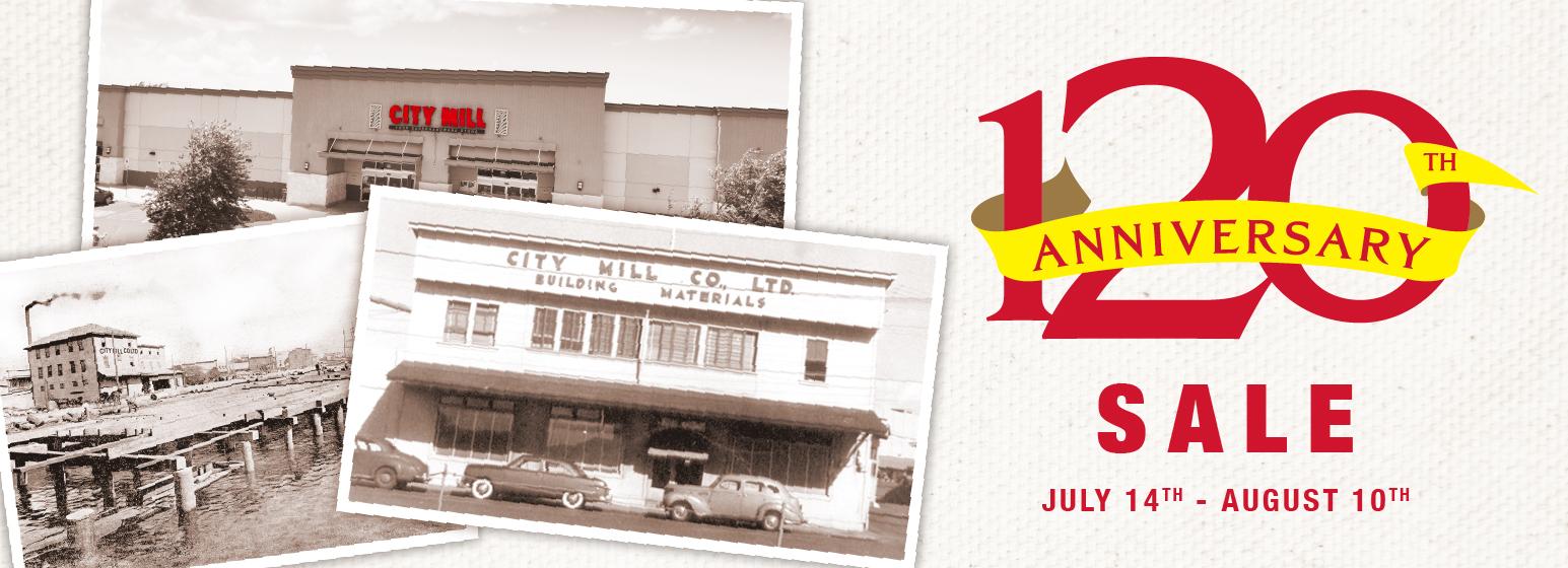 City Mill 120th Anniversary Sale