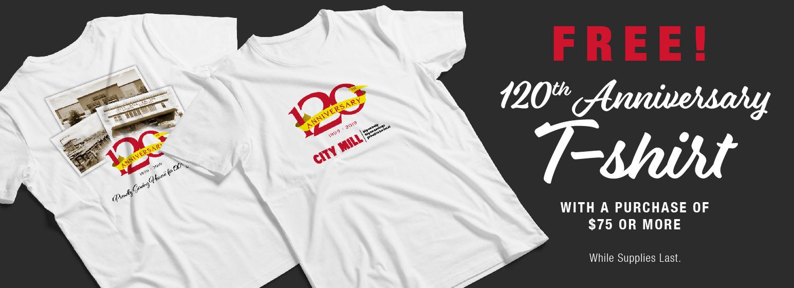 City Mill Free 120th Anniversary T-Shirt
